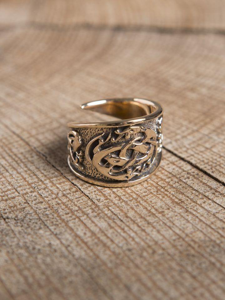 Keltischer Ring aus Bronze klein