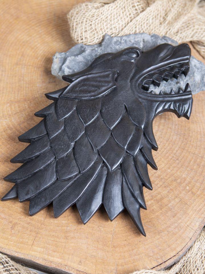 Schwarzer Wikinger Wolf Fenrir