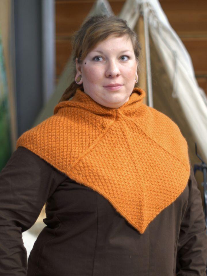 Woll-Strick Gugel Asbjorn orange