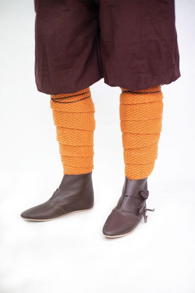 Woll-Strick Wadenwickel Askil orange