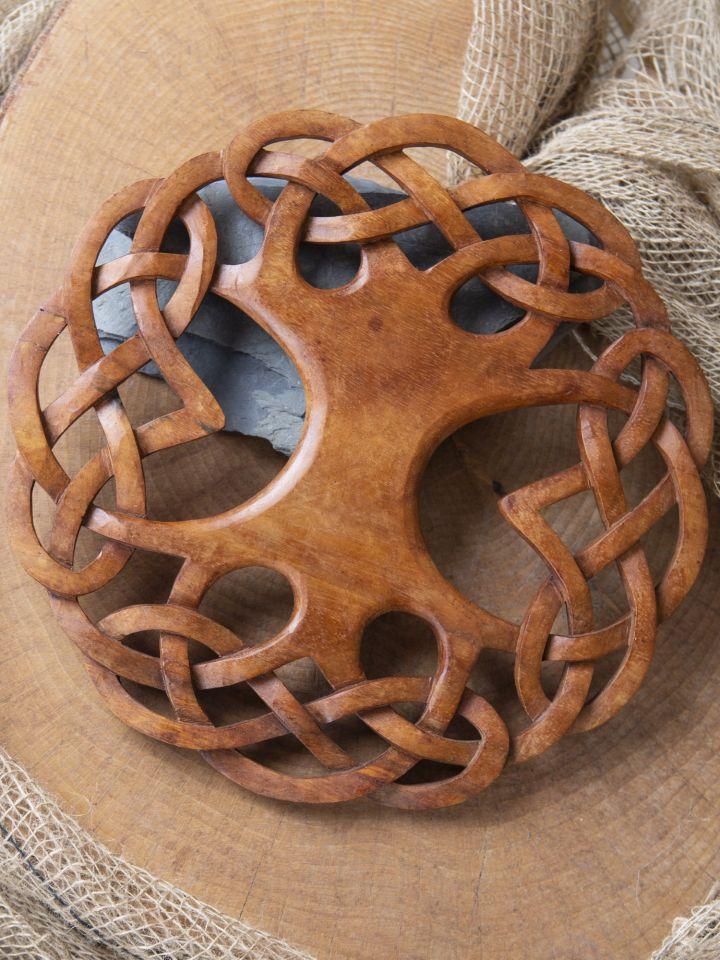 Holz-Wandschmuck Keltischer Lebensbaum