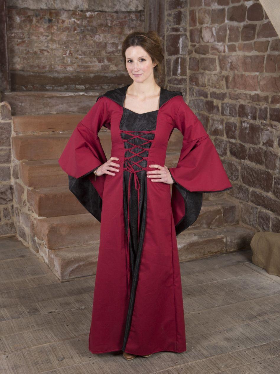 Ritterladen   Mittelalterkleid Evanna schwarz-rot   Mittelalter Shop 545a01add9