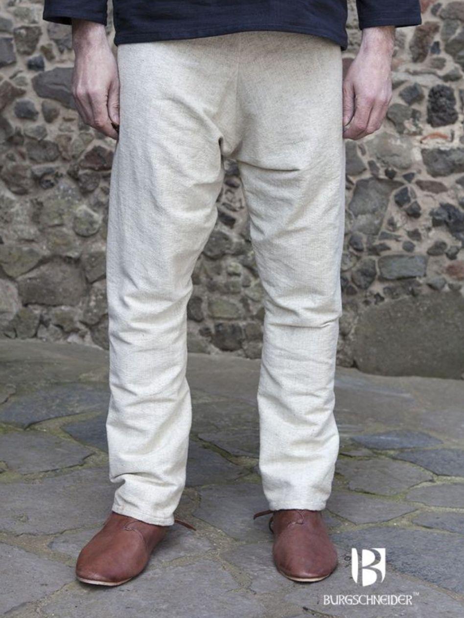Wikinger Hose Loki aus Baumwolle Beige Schwarz Braun Rot Blau Olivgrün