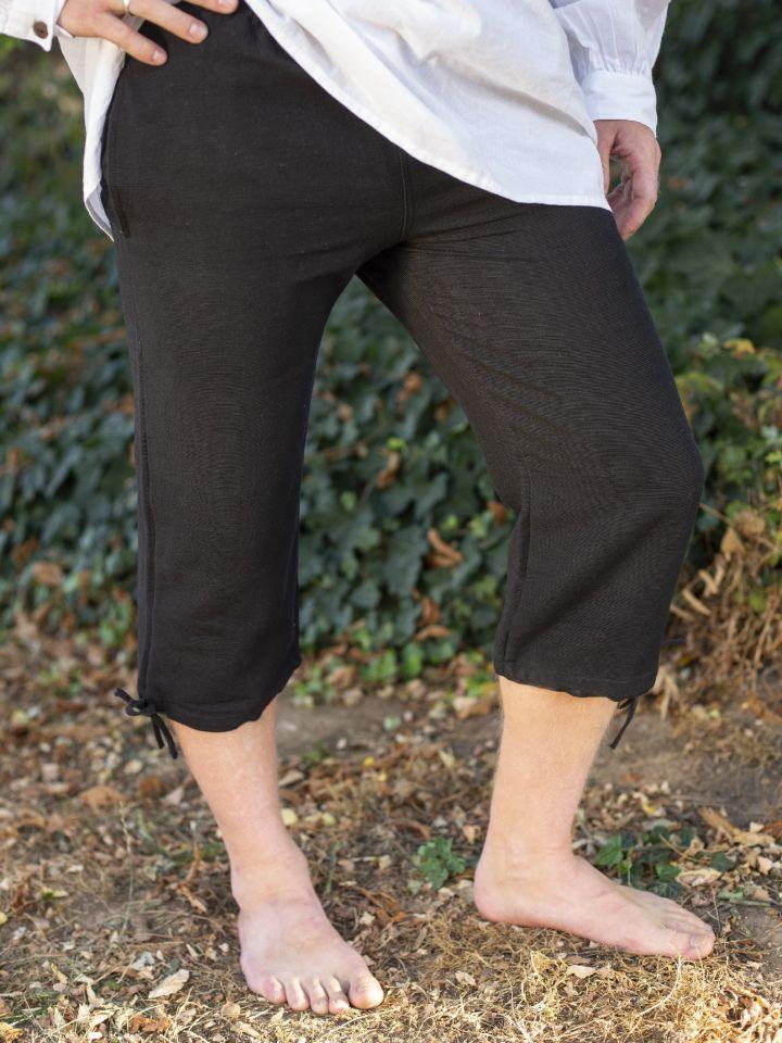 Einfache Kniebundhose schwarz 2