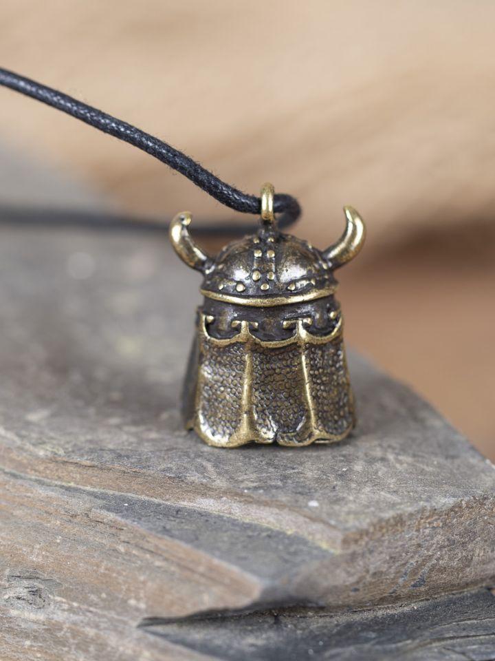 Amulett Wikingerhelm messing 2