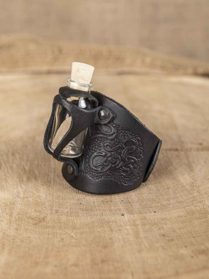 Armband mit Trankflasche schwarz geprägt 2