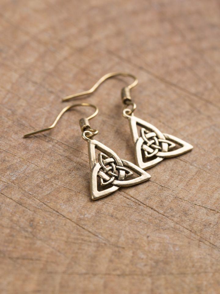 Ohrringe Triangel bronze 2