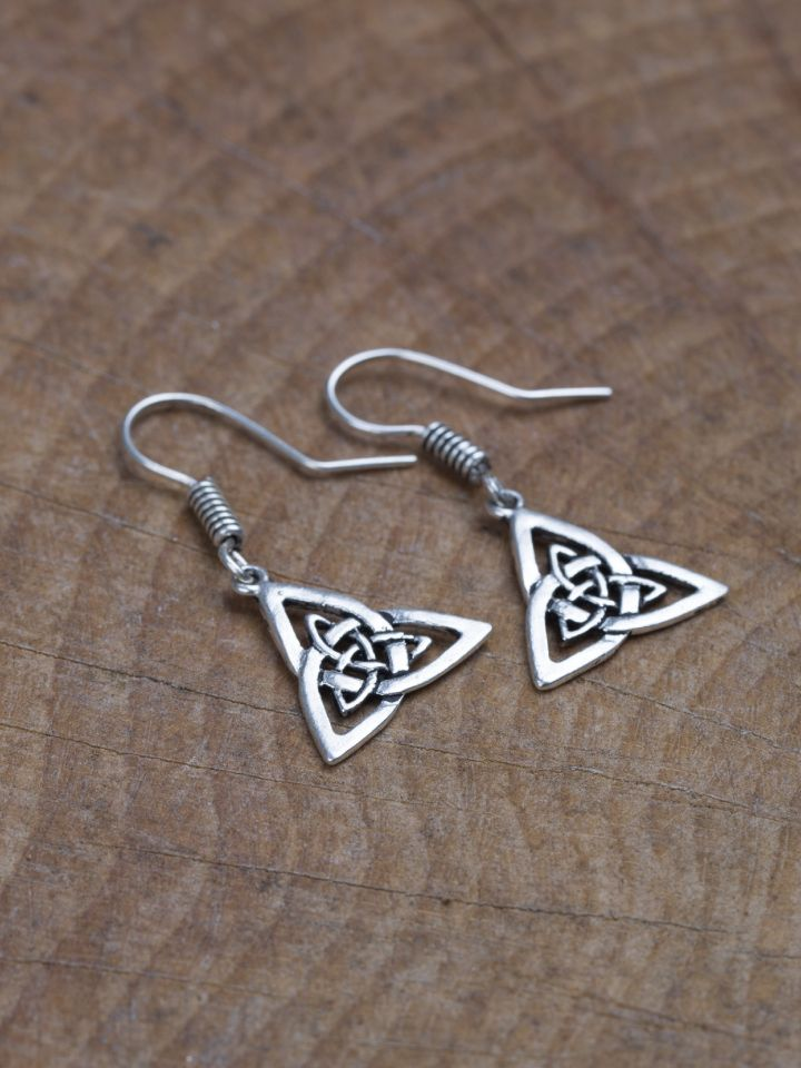 Ohrringe Triangel versilbert 2