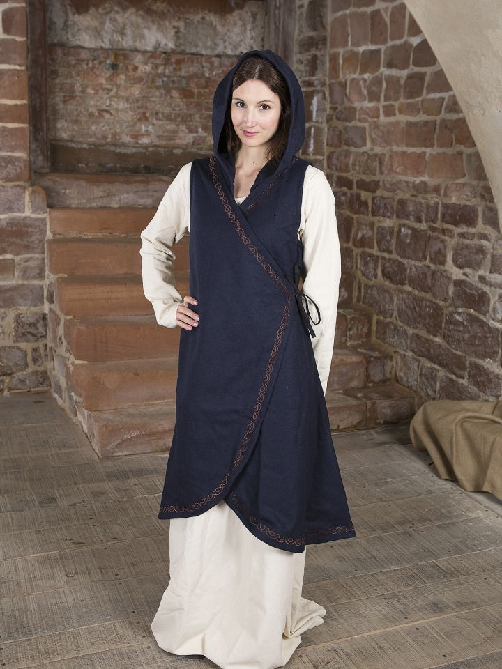 Wickelkleid Dala aus Wollfilz blau 2
