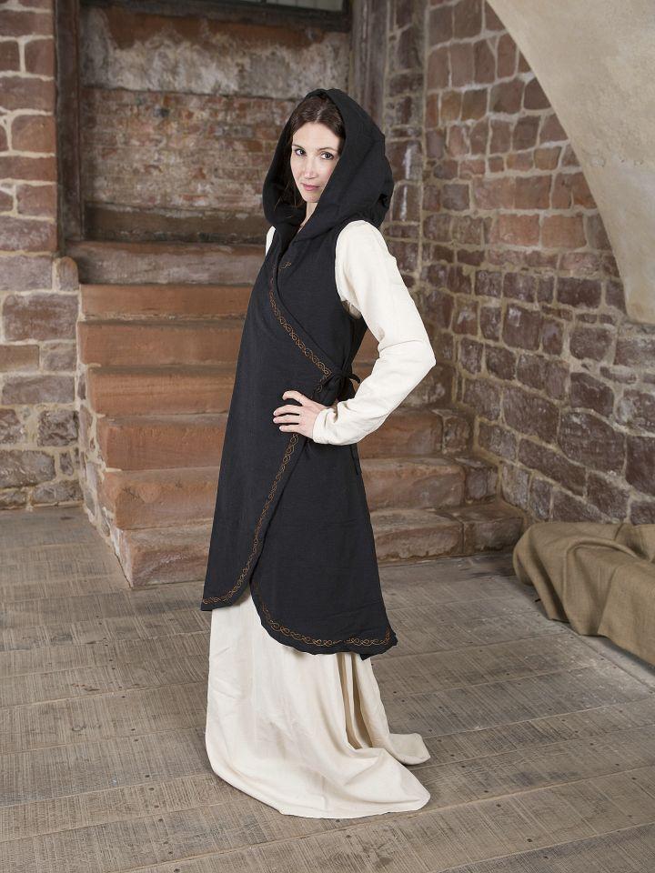 Wickelkleid Dala aus Baumwolle schwarz 2