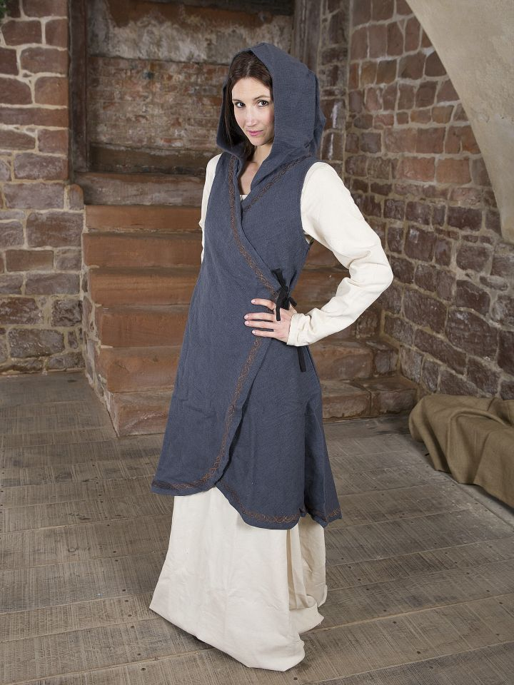 Wickelkleid Dala aus Baumwolle grau 2