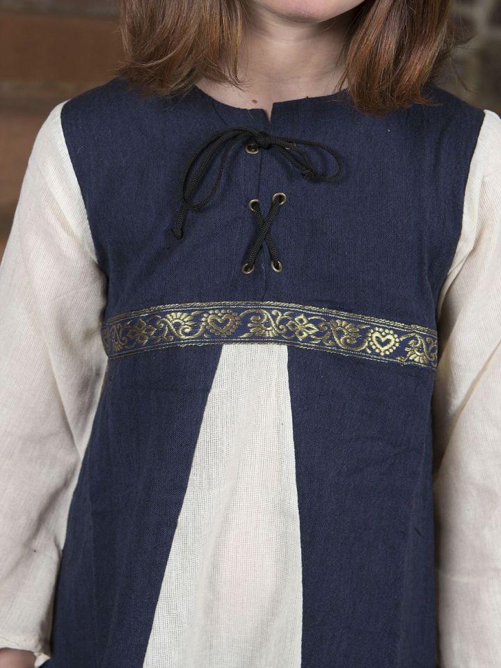 """Kinderkleid """"Piccolina"""" blau-natur 128/134 2"""