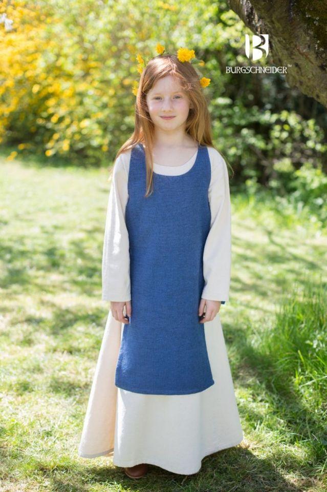 Kinderüberkleid Ylva meerblau 128 2