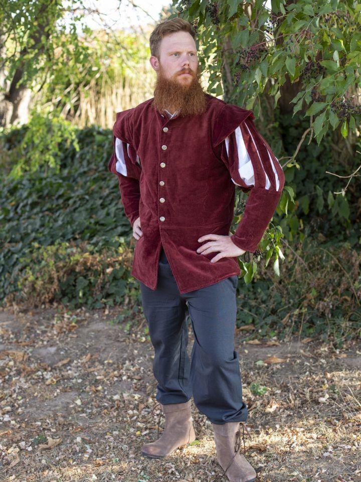 Jacke für den edlen Herren rot 2