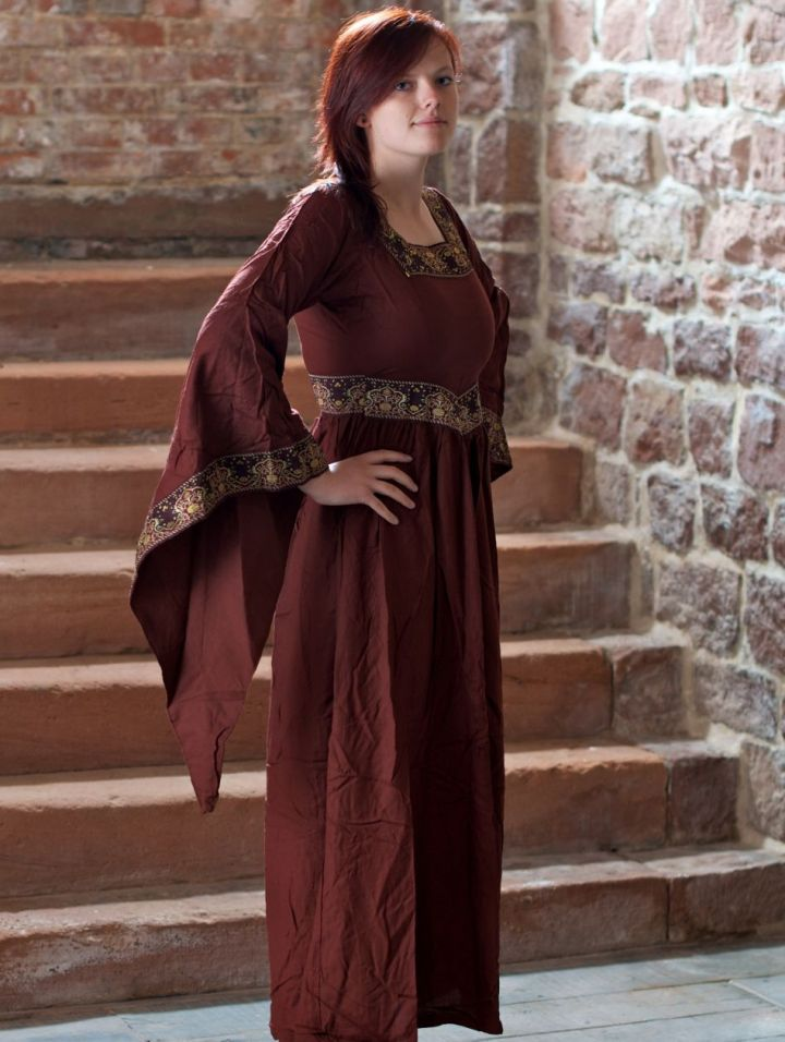 Mittelalterkleid Burgund in rot S 2