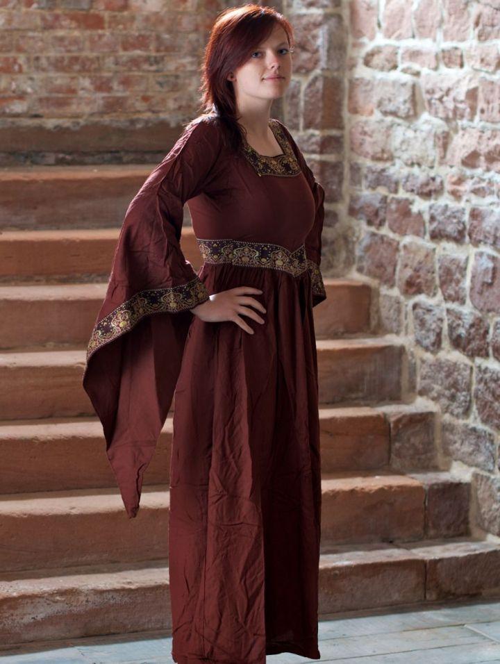 Mittelalterkleid Burgund in rot L 2