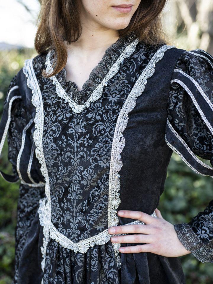 Tudorkleid schwarz 2