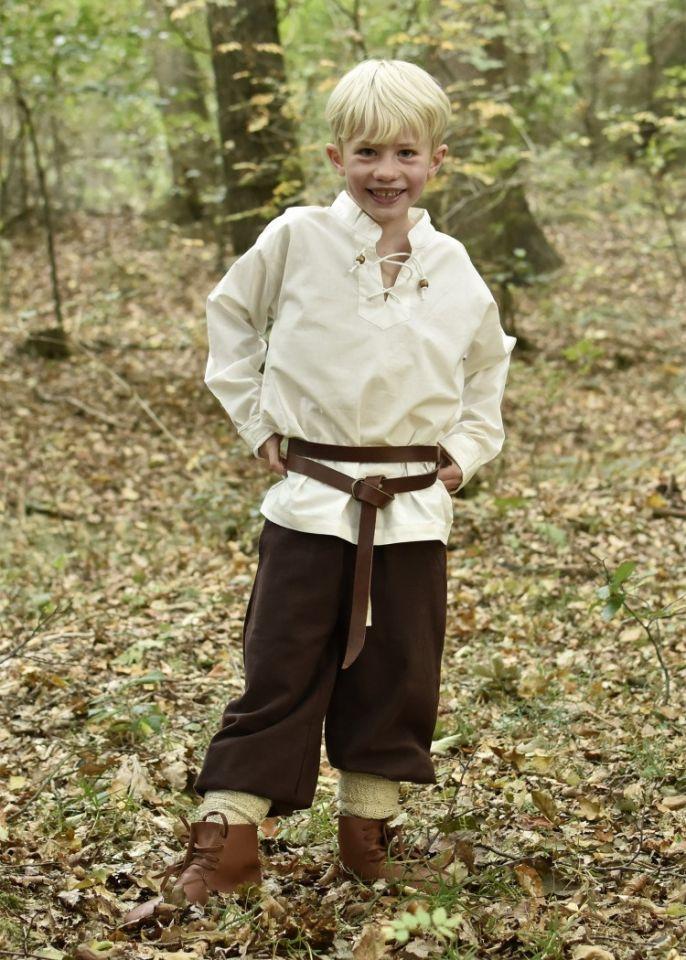 Kinder Mittelalterhemd natur 2