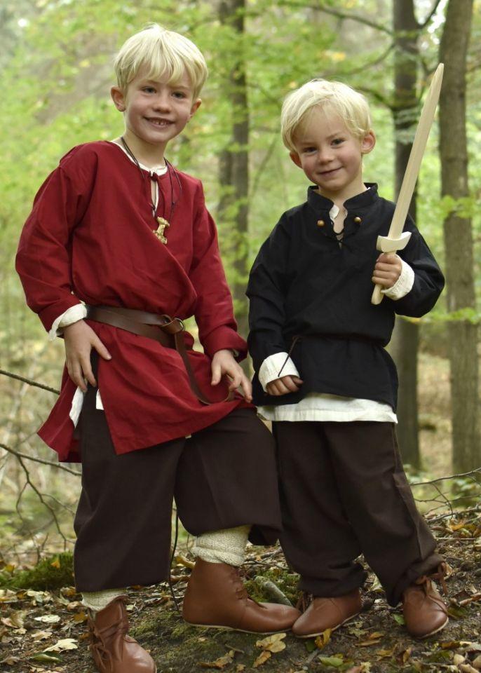 Kinder Mittelalterhemd schwarz 2