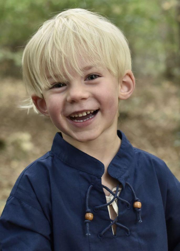 Kinder Mittelalterhemd blau 110 2