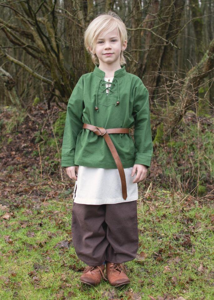 Kinder Mittelalterhemd grün 2
