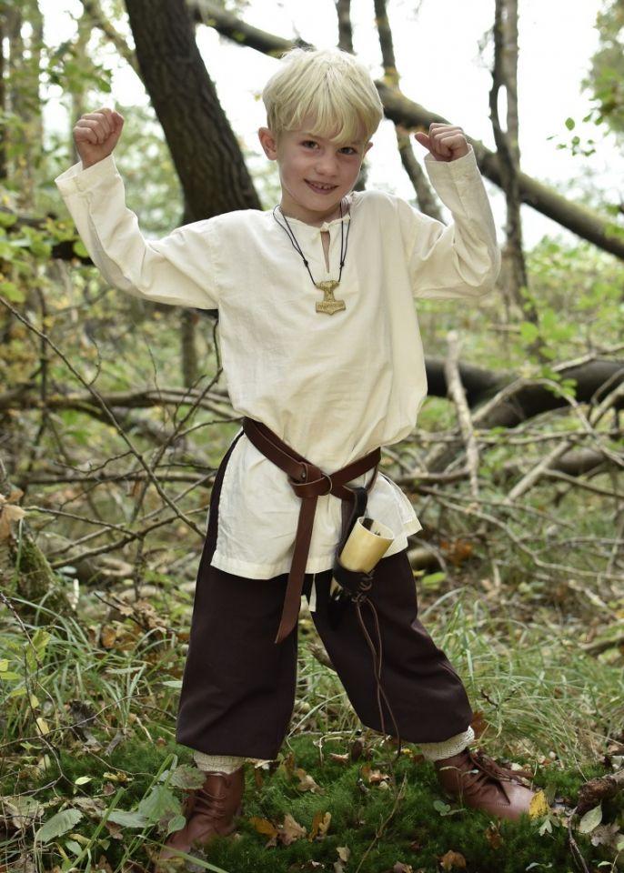 Mittelaltertunika für Kinder natur 128 2