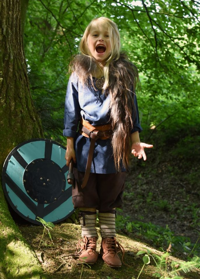 Mittelaltertunika für Kinder blau 2