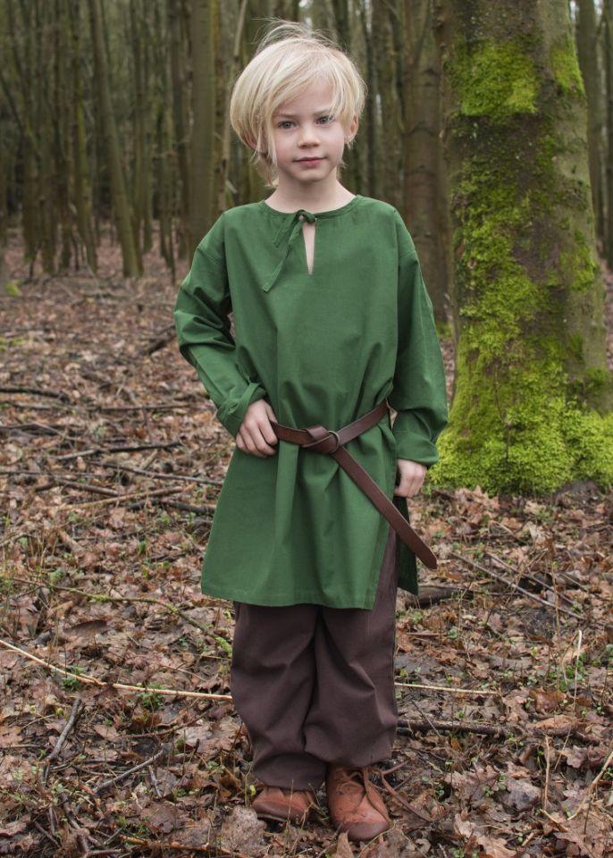 Mittelaltertunika für Kinder grün 2