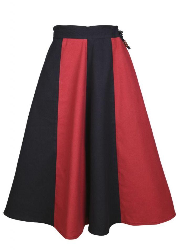 Mädchenrock für Mittelalter rot-schwarz 2