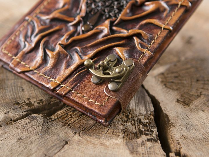 Lederbuch Baum klein 2