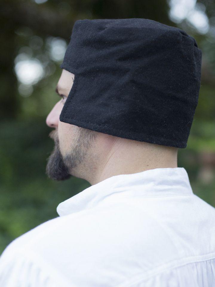 Kappe aus Wolle schwarz 2