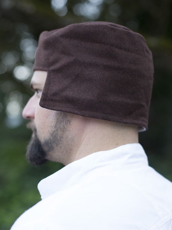 Kappe aus Wolle braun 2