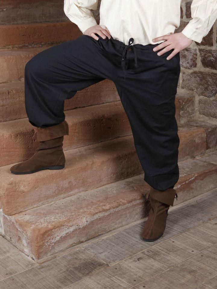 Baumwollhose mit Schnürung schwarz XL | schwarz 2