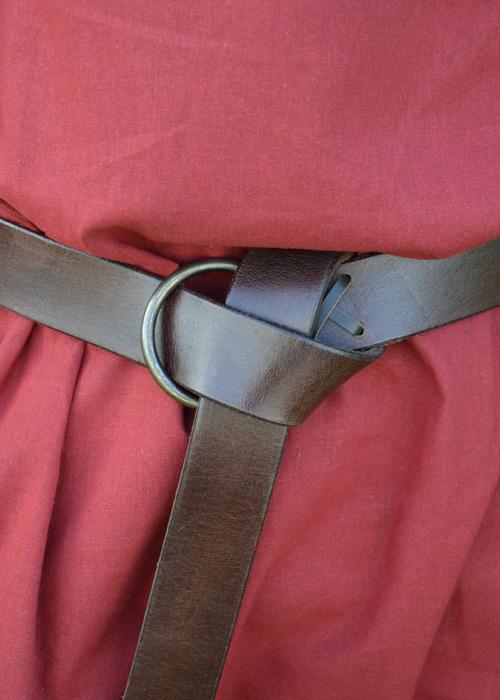 Brauner Ringgürtel ca. 150 cm 2