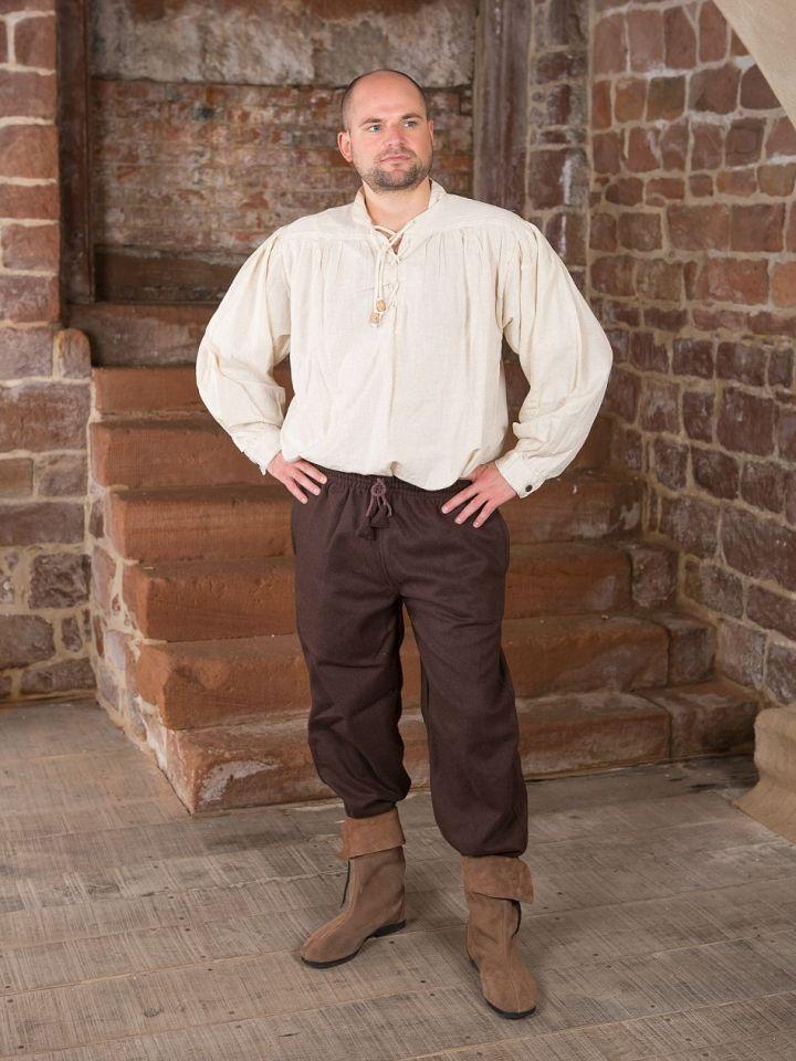 Mittelalterhose aus Wolle dunkelbraun L 2