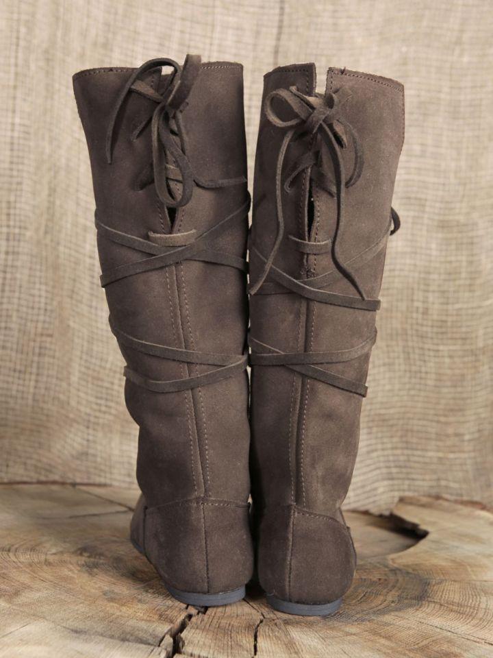 Hohe Stiefel aus Wildleder braun 45 2