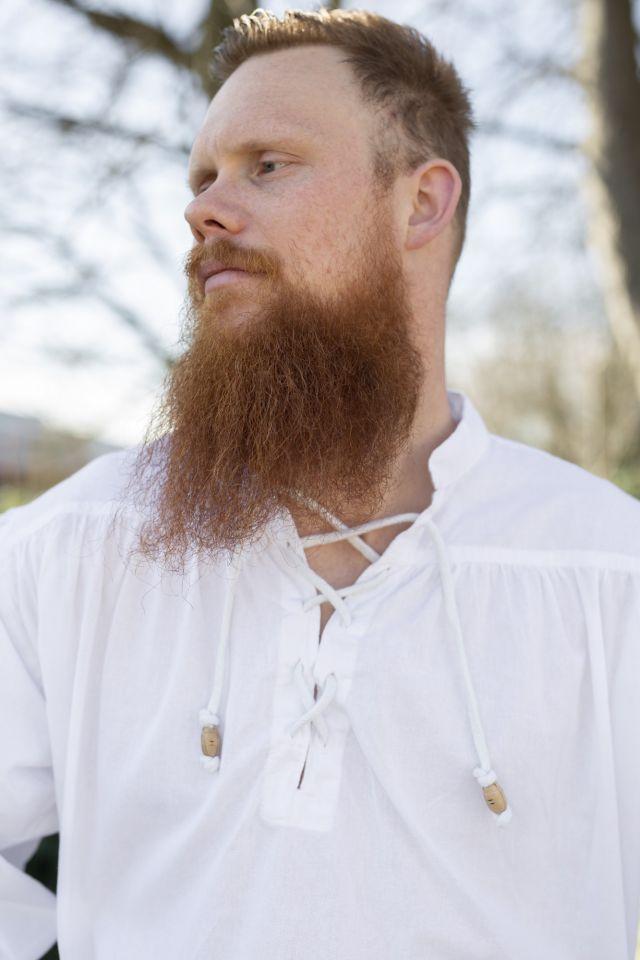 Mittelalterhemd weiß 2