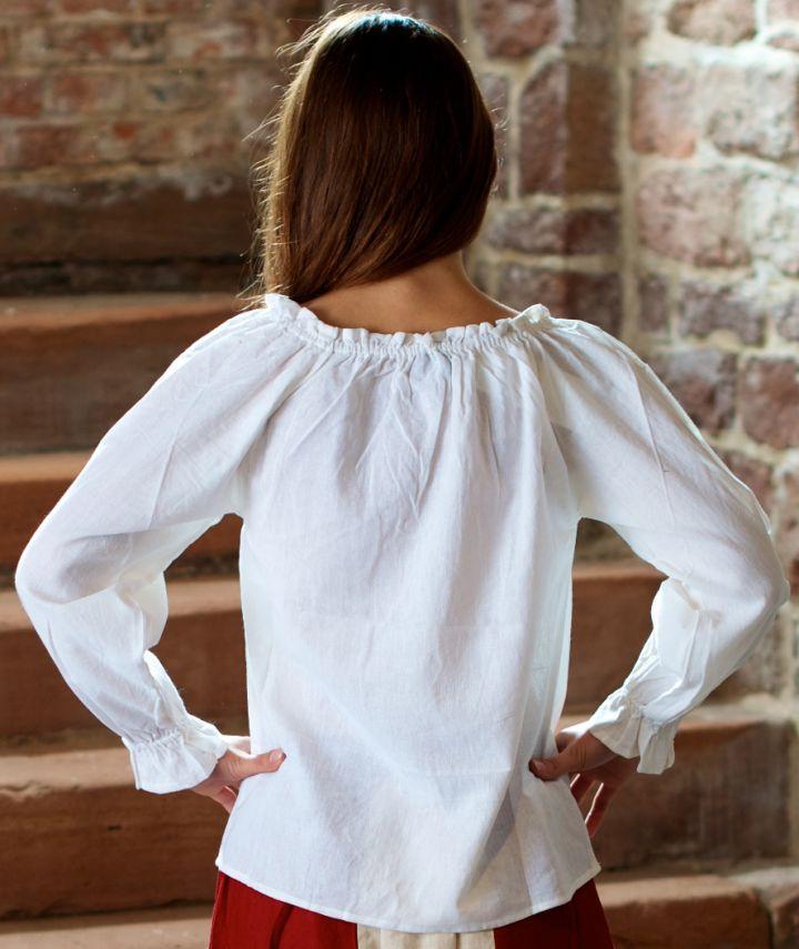 Bluse mit Schnürung weiß 2