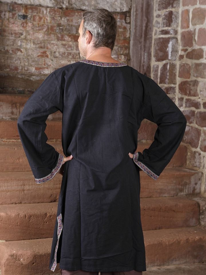 Tunika mit Bordüre, schwarz XL 2