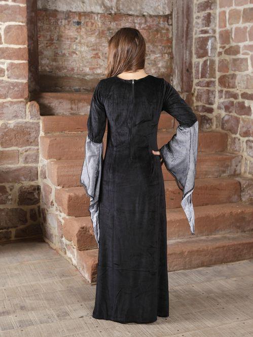 Traumkleid für Mittelalter / Gothic / Fasching schwarz-grau 2