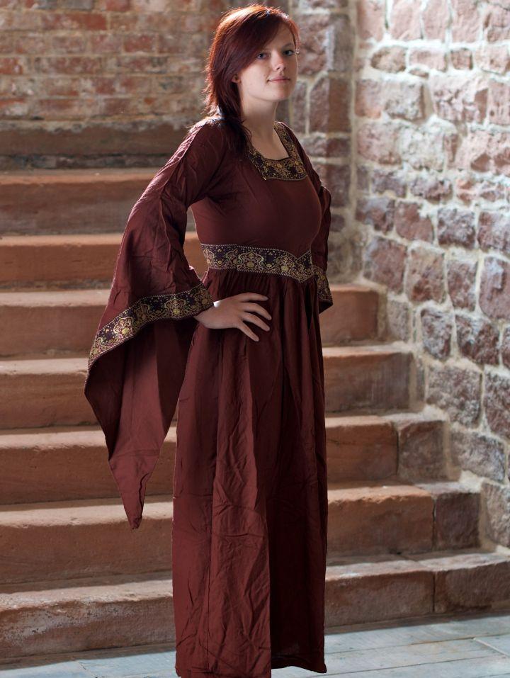 Mittelalterkleid Burgund in rot 2