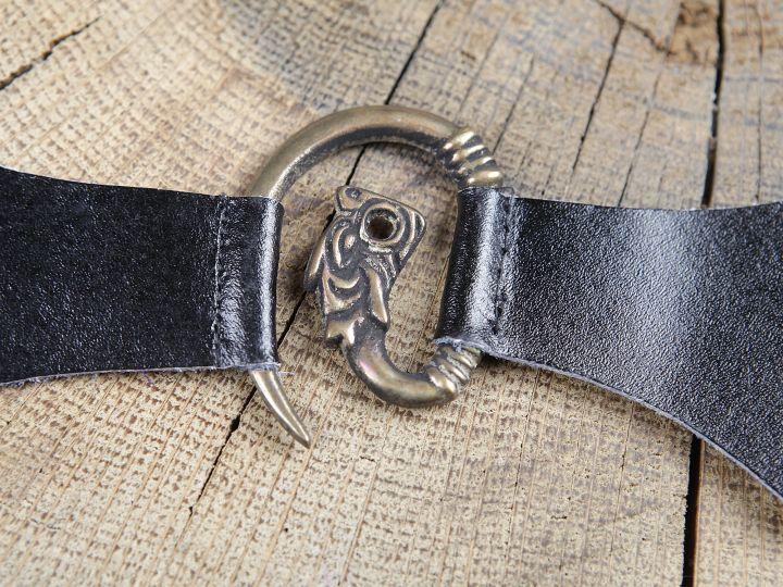 Metallschließe Drache braun 2