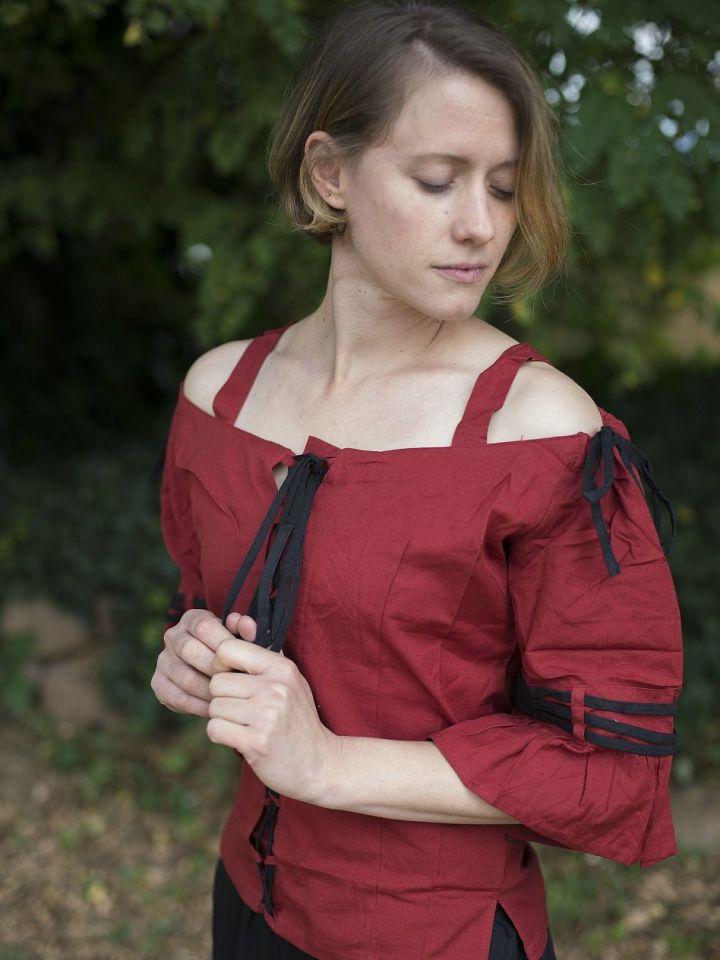 Bluse mit verstellbaren Trägern, rot-schwarz XXL 2