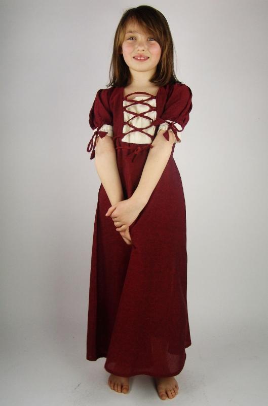 Leichtes Kinderkleid rot 2