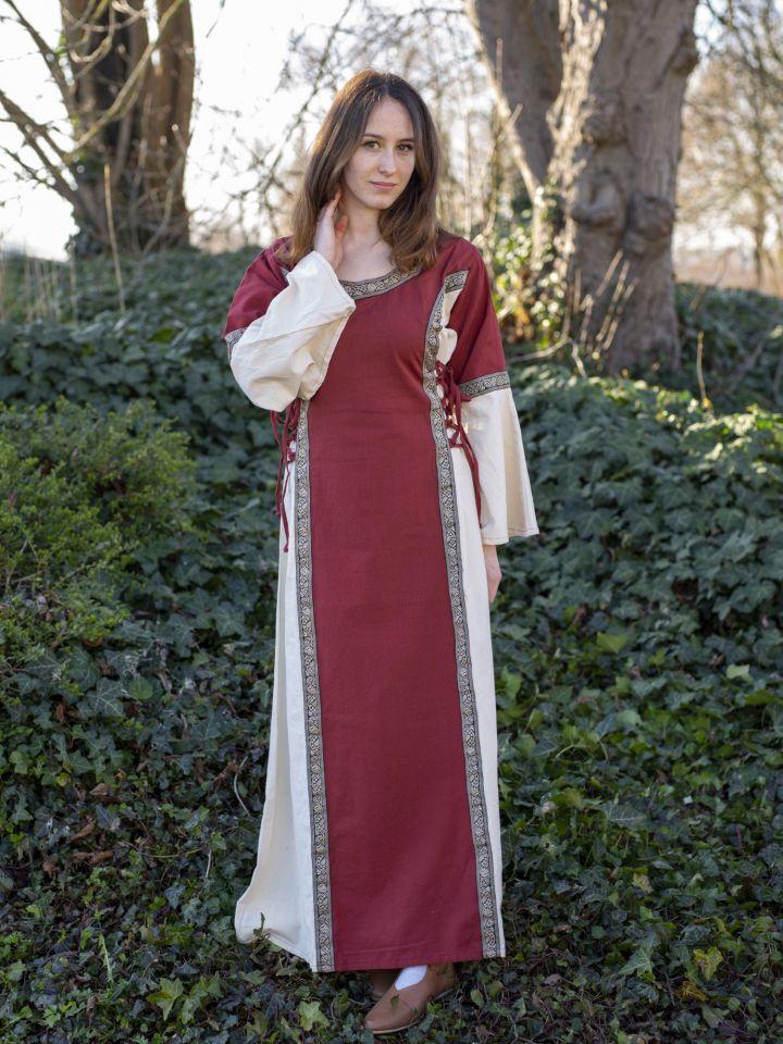 Kleid Klarissa rot-natur 2
