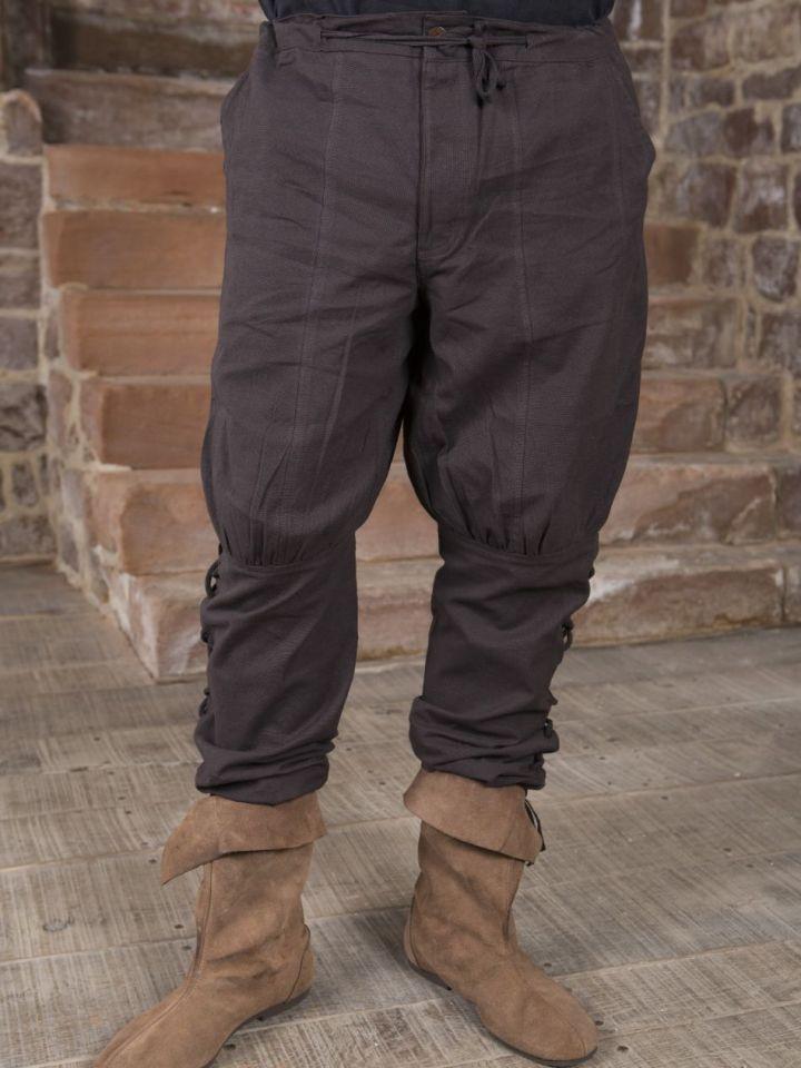 Hose mit Beinschnürung braun S 2