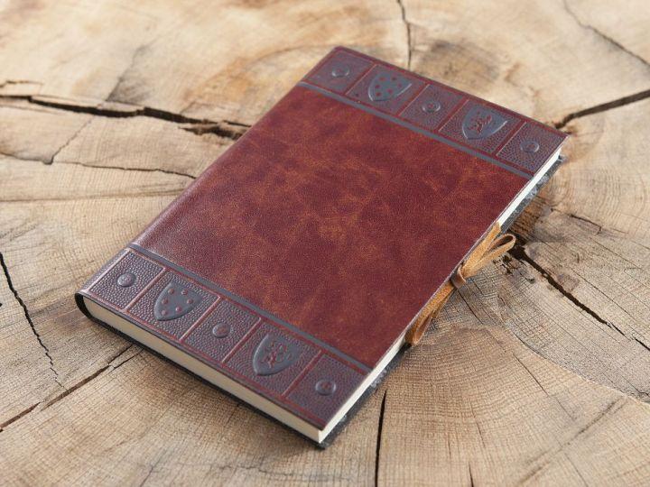 """Schreibbuch """"Scudi"""" im Ledereinband Groß 15x21 cm 2"""