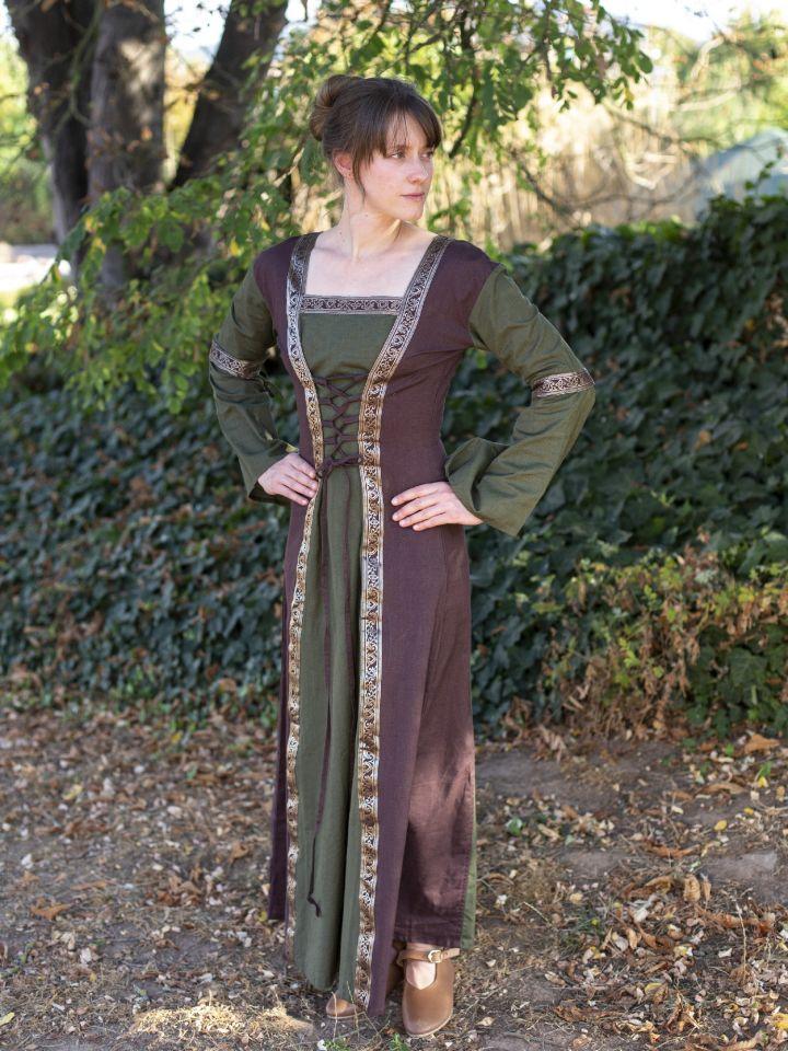 Mittelalterkleid mit abnehmbaren Ärmeln oliv-braun XXL 2