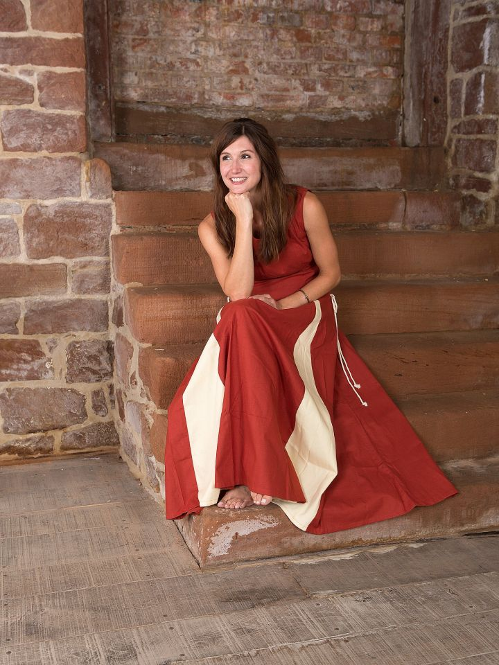 Ärmelloses Kleid rostrot 2