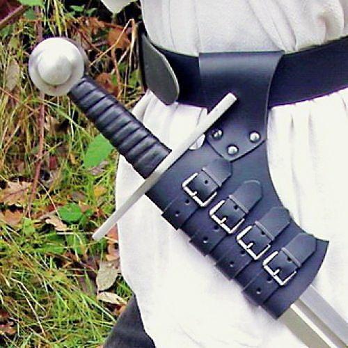 Schnall-Schwerthalter braun 2